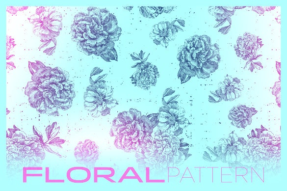 gritty floral pattern