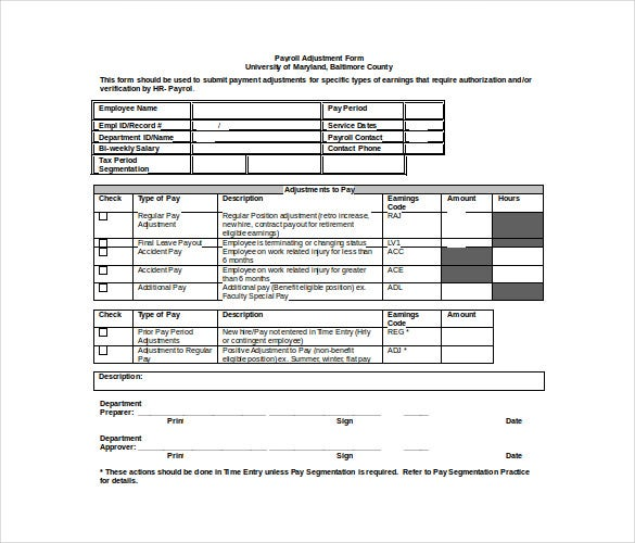 manual payroll processing free doc template