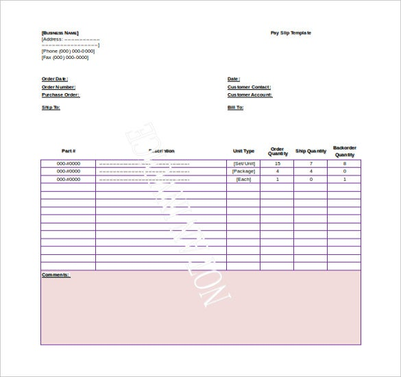 15 Word Payroll Templates Free Download – Payslip Sample Word Format