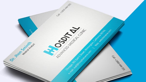 hospitalbusinesscardtemplate