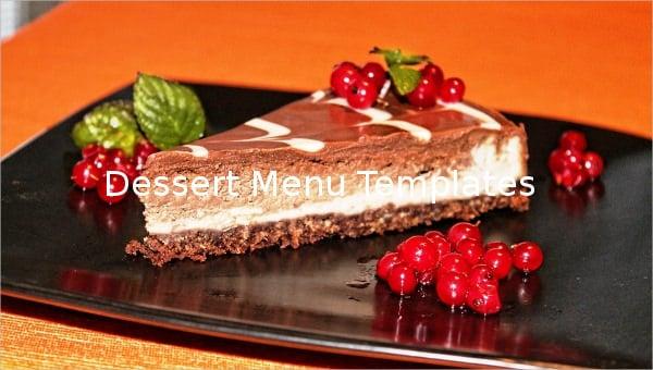 featured image dessert menu template1