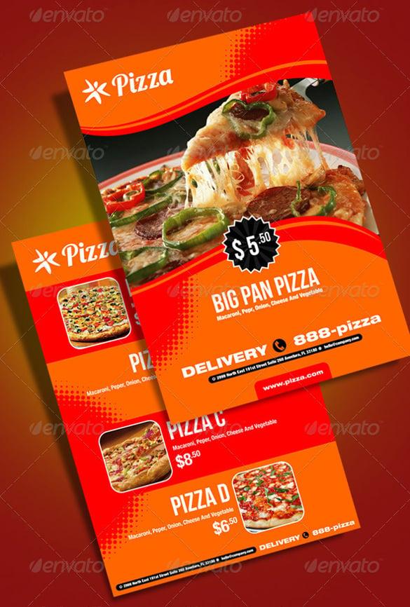 fresh pizza menu vector eps format download