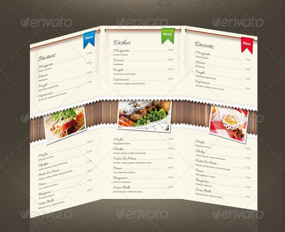 psd format pizza menu of download
