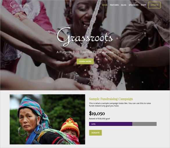 fundraising campaigns non profit blog theme 591