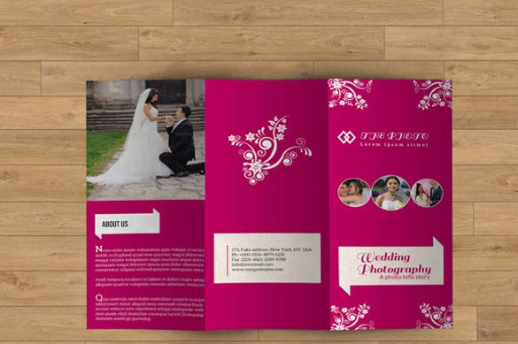 designed wedding brochure template download