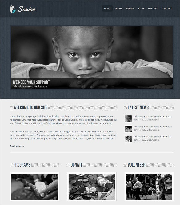 non profit helping hands blog html template 252