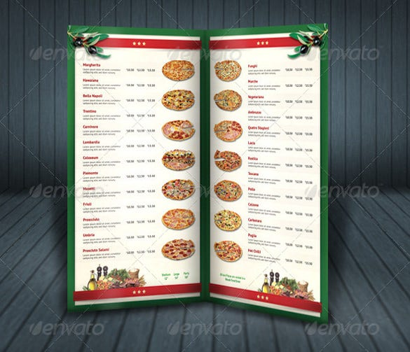 29 pizza menu templates free sample example format download