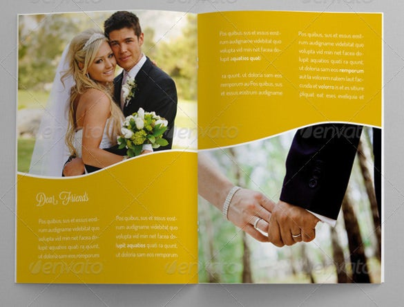 attractive wedding brochure template download