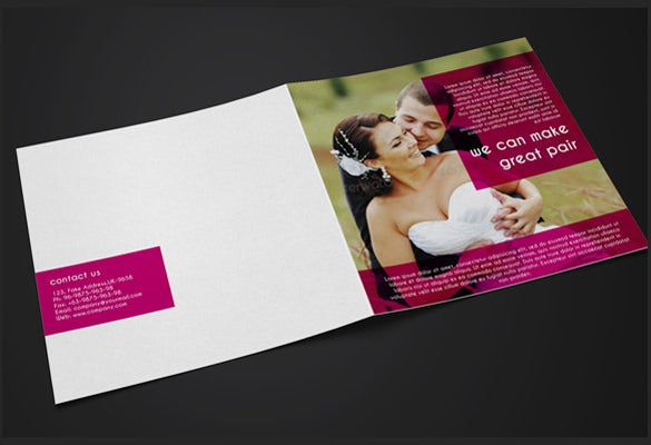 wedding broucher template with couple