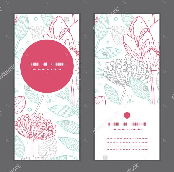 vector modren wedding brochure template download