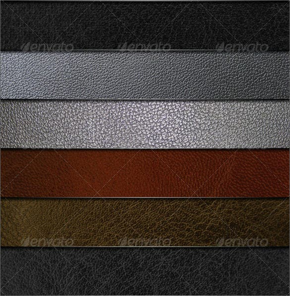 set of leather texture