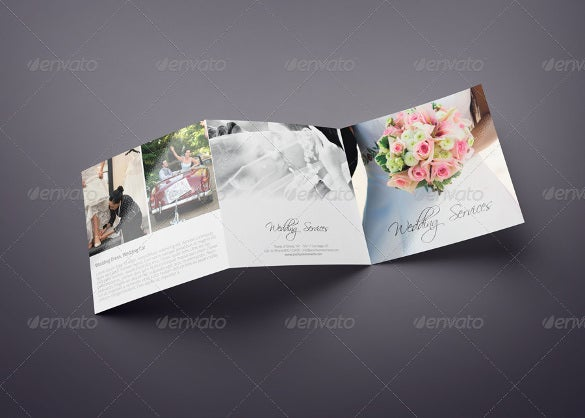tri fold wedding broucher template download