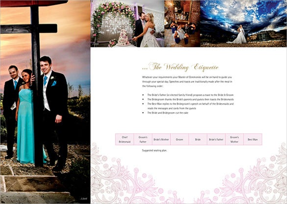 wedding brochure template for free download