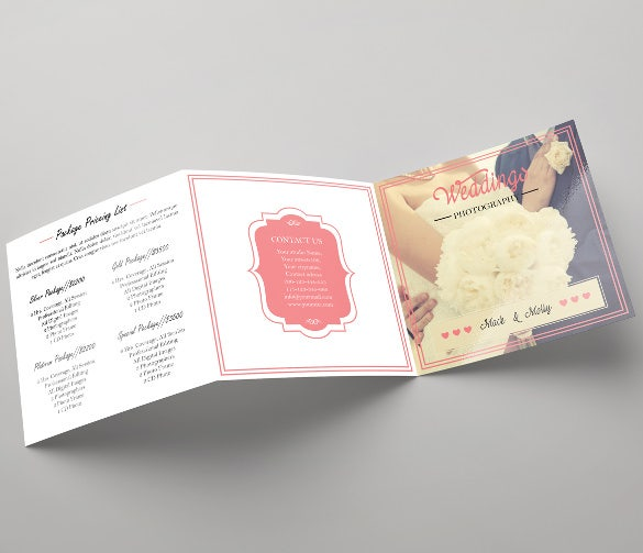 print ready wedding brochure template download