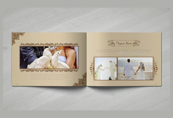 elegant wedding brochure template download