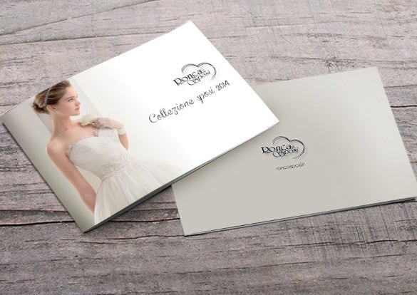 simple and clear wedding brochure template download