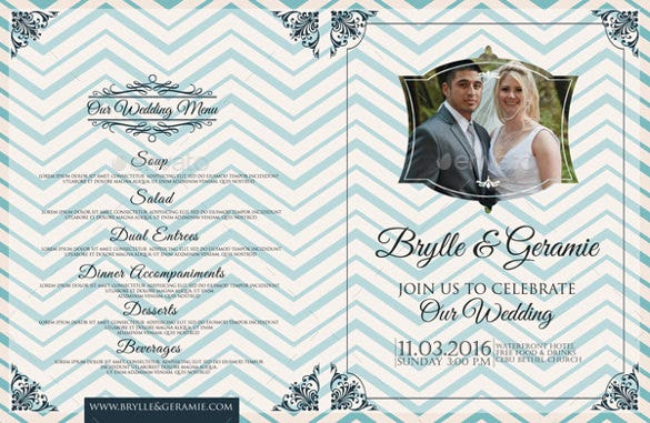 bi fold wedding brochure template download