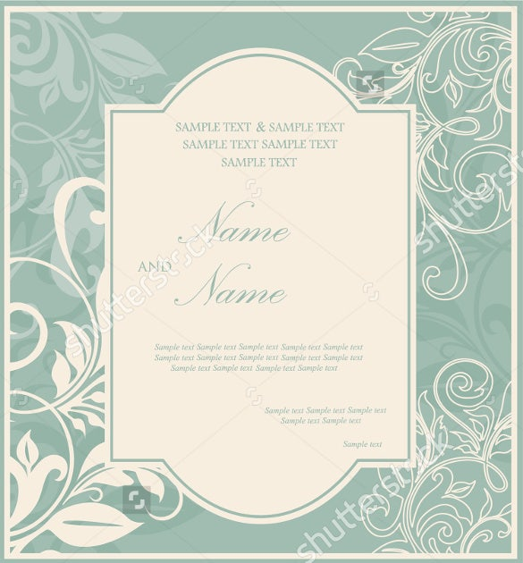 vintage wedding brochure template download