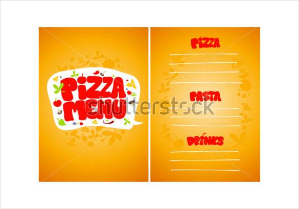 pizza menu card design template sample download