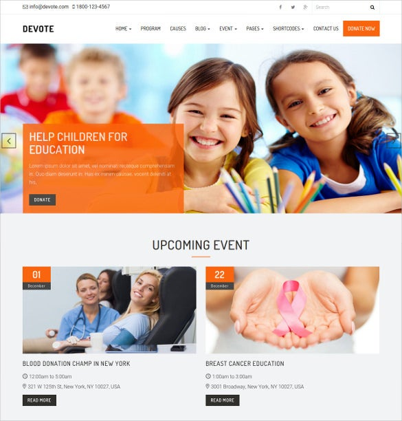 chairty ministry non profit bootstrap wordpress theme 29