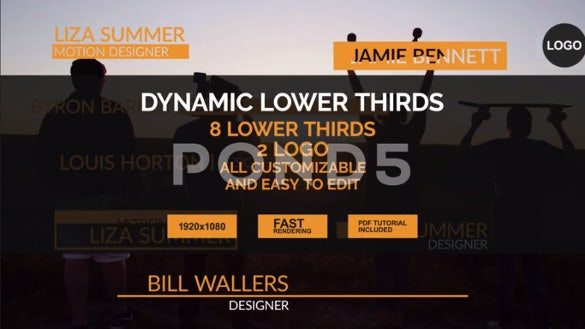 after effect cs6 dynamic lower thirds download