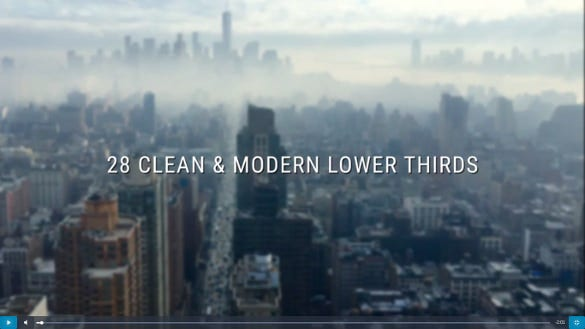 after effects clean lower third design download