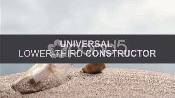universal lower third constructor after effect download