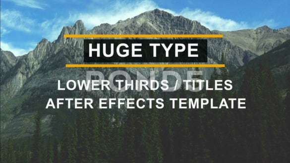 huge lower thirds and titles after effects download