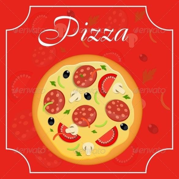 pizza menu template vector illustration format download