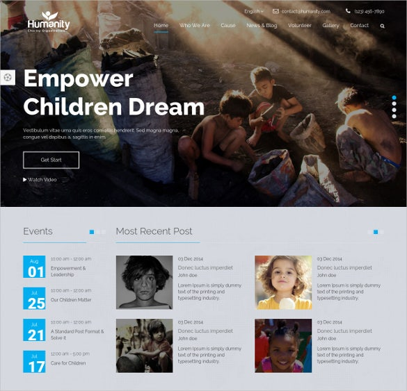 humanity non profit bootstrap theme 12