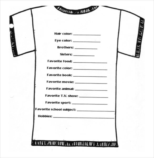 Free Download Simple T Shirt Design Order Form Template