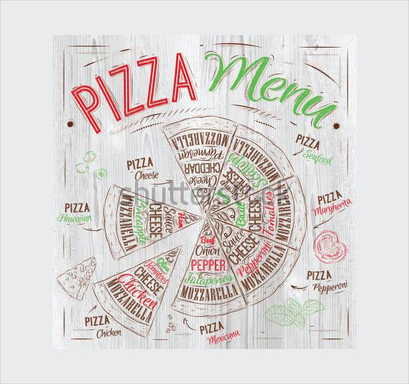 pizza menu template sample download1