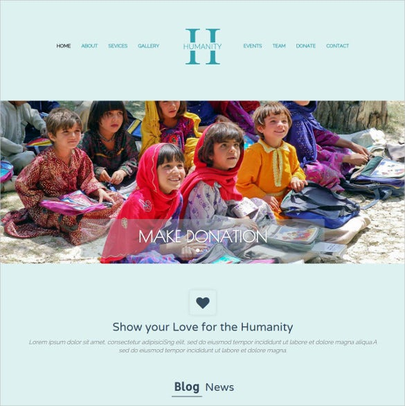 free non profit charity bootstrap website theme