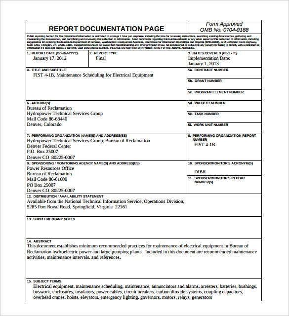 hvac service report template