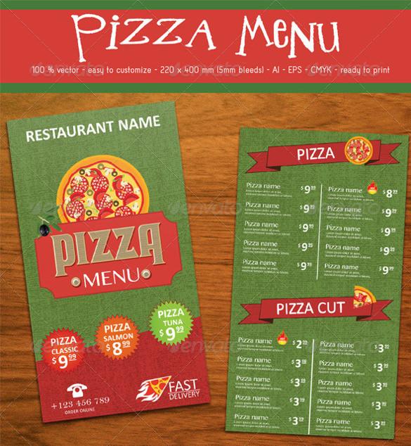 pizza menu ai illustrator format download