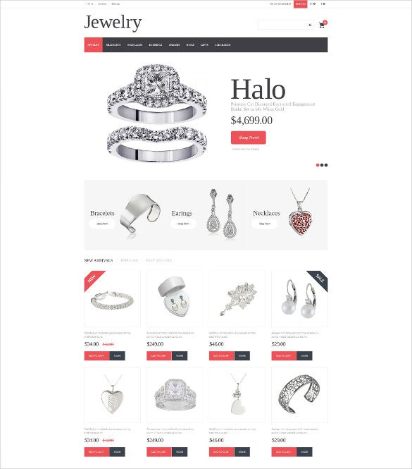 silver jewelry prestashop theme