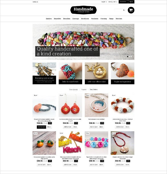 handmade fancy jewelry prestashop theme