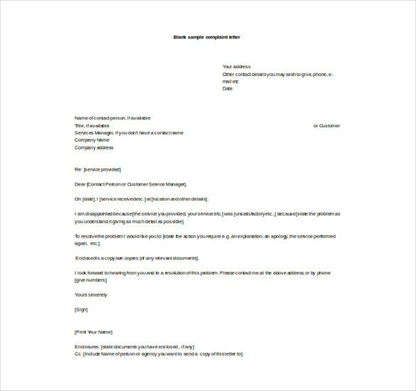 Free-Word-Format-Blank-Complaint-Letter- Official Letter Template Microsoft Word on free christmas, document recommendation,