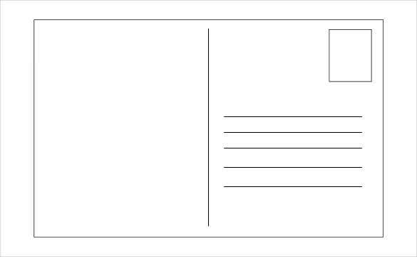 Perfect Postcard Layout Template Intended Postcard Format Template
