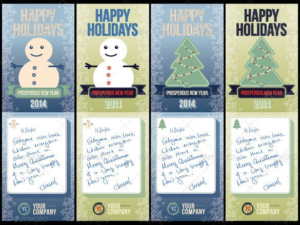 happy holiday postcard template