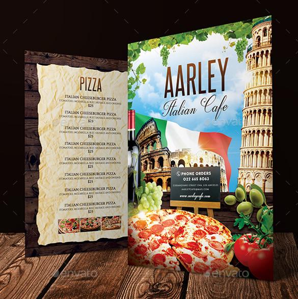 italian cafe menu vector eps format download