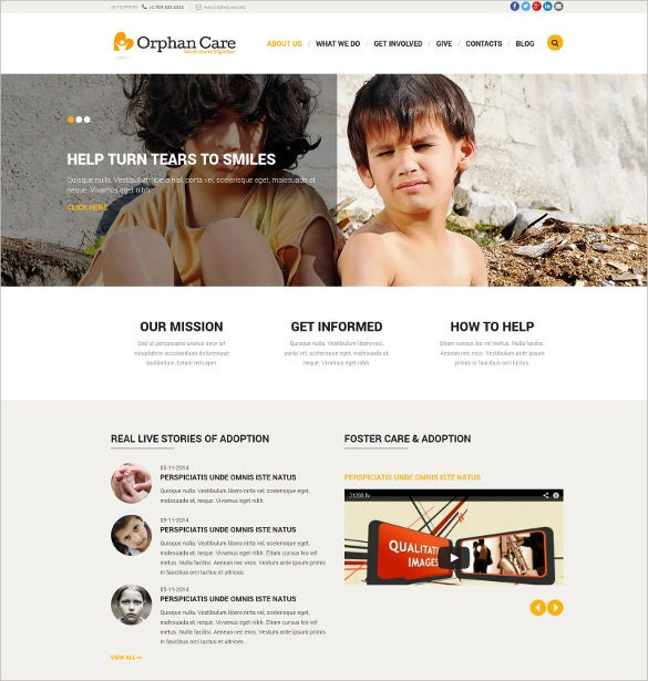 orphanage donations non profit html5 joomla template 752