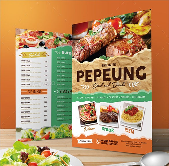 cafe menu design template free download - 35 cafe menu templates free sample example format