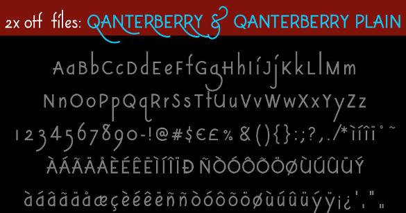 qanterberry modern vintage font