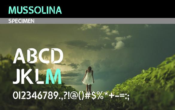 mussolina modern font