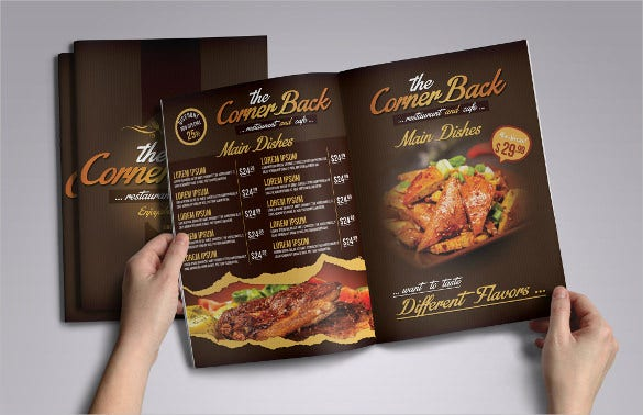 restaurant cafe menu pack psd format download