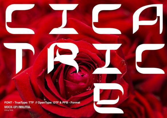 sharp curvy modern futuristic font