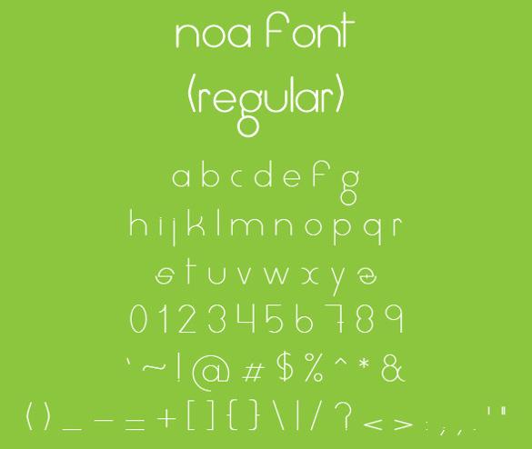 noa modern font
