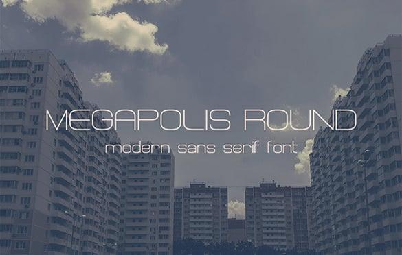 megapolis round modern font