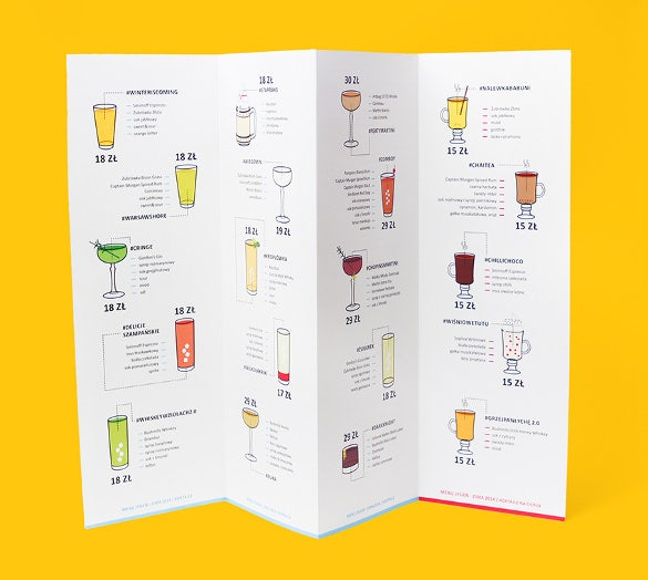 example foto cafe menu template download